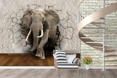 Объемное изображение слона