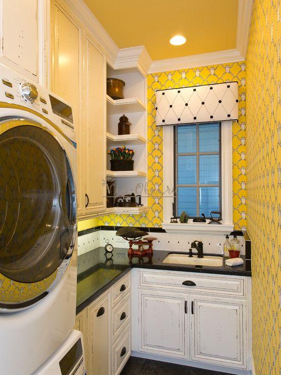 обои на кухне желтые фото