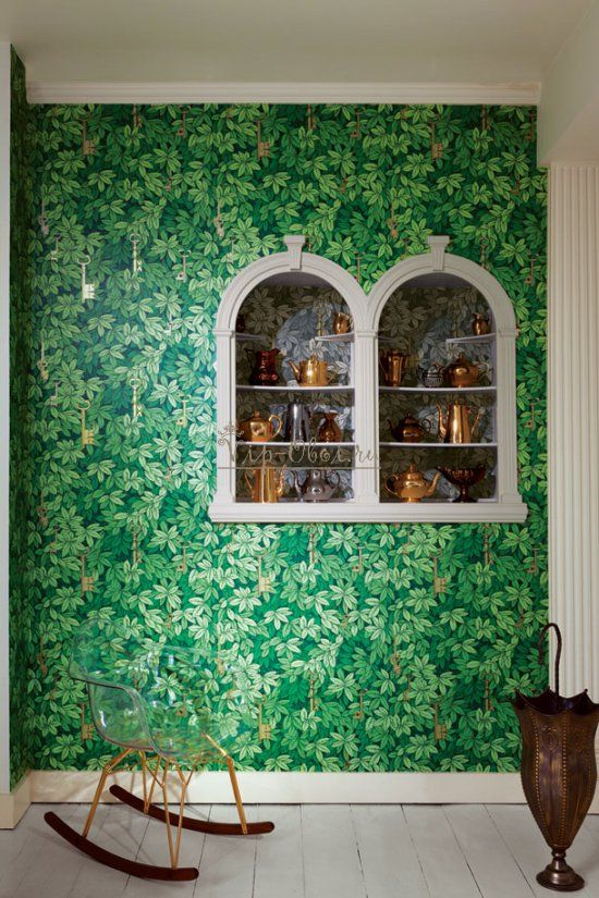 обои для стен зеленые фото