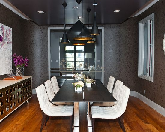 Black and grey dining