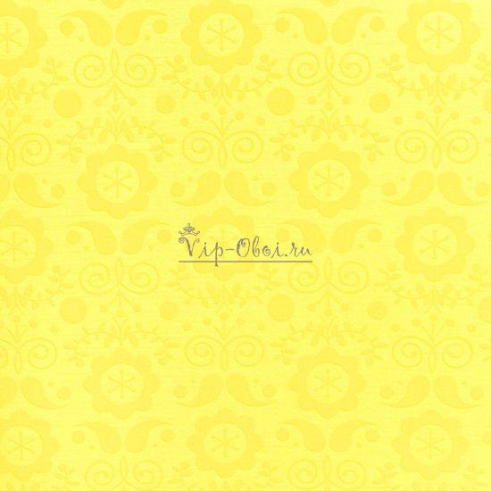 Обои Fleurique 321822 голландской марки Eijffinger с жёлтым рисунком