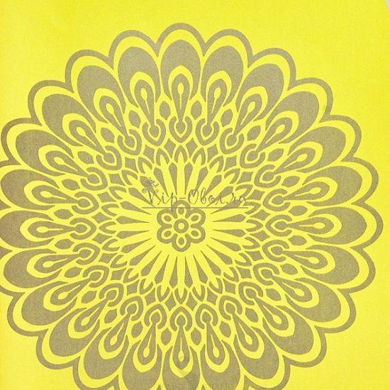 Обои Fleurique 321844 голландской марки Eijffinger жёлтые с цветами