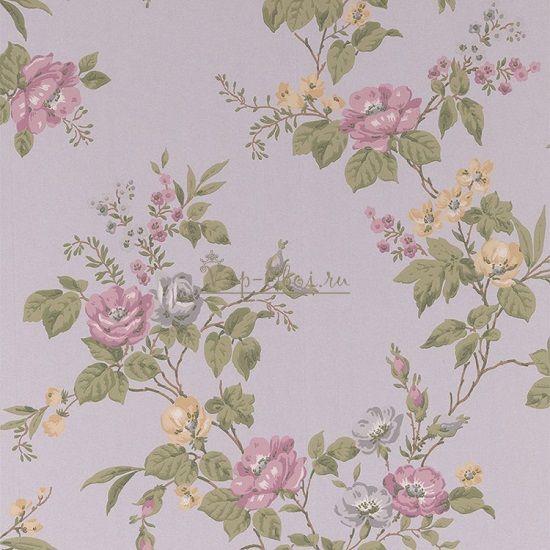 Обои Spell Bound 50-438 бренда Graham & Brown с цветами на серебристом фоне.