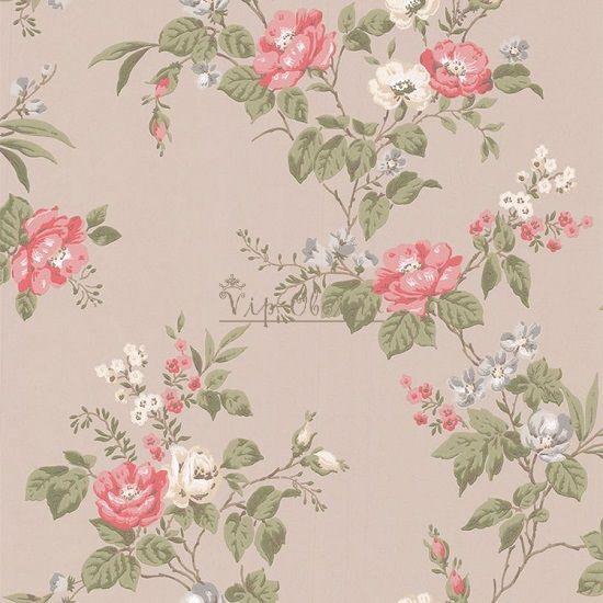 Обои Spell Bound 50-439 бренда Graham & Brown с вьющимися розами на сером.