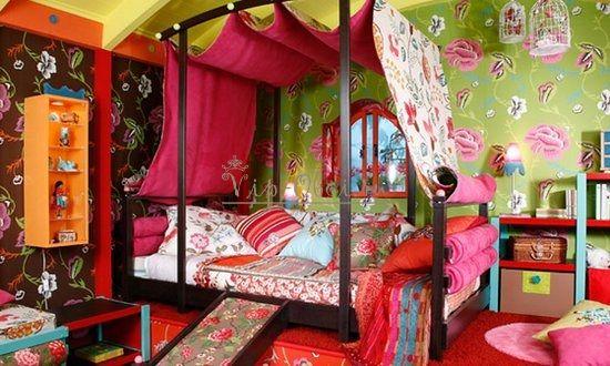 Комбинированные обои для спальни цыганской девушки