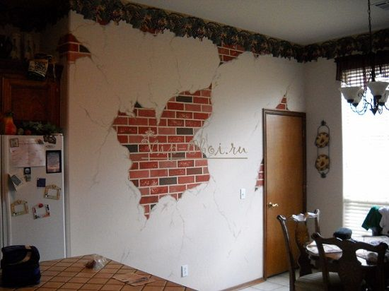 Обои под кирпич обои в виде кирпичной кладки имитации стены