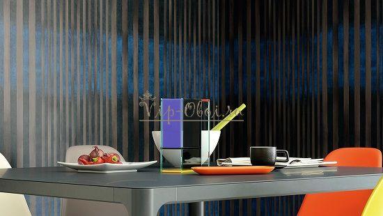 Дизайн обоев для кухни с полоской