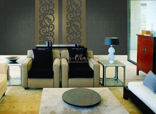 Комбинирование обоев двух цветов в гостиной фото 15