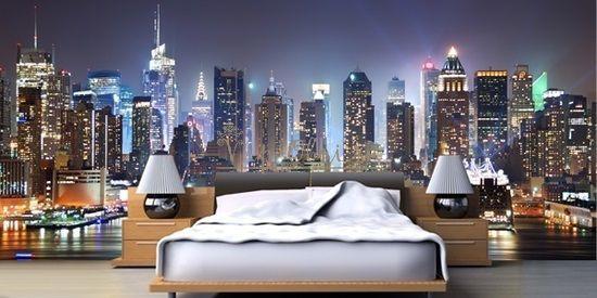 Ночь на обоях для современных квартир