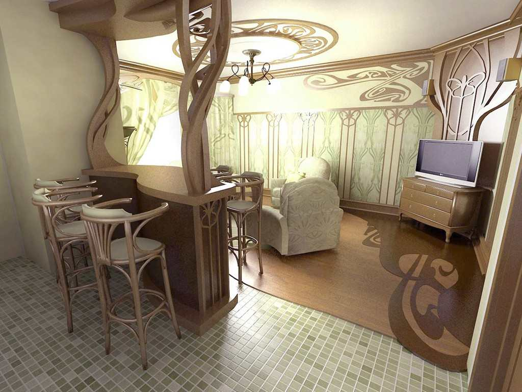 Квартира в стиле модерн своими руками