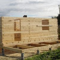 Фундамент для дома из бруса: фото