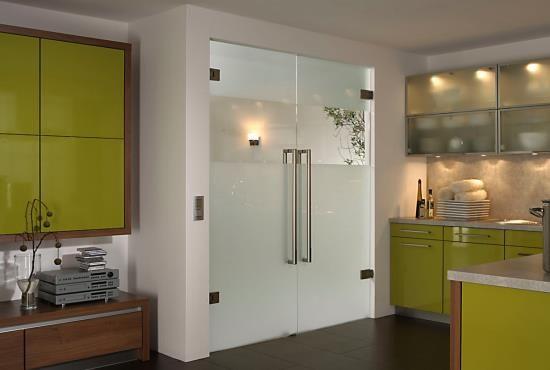 Маятниковые стеклянные двери: фото