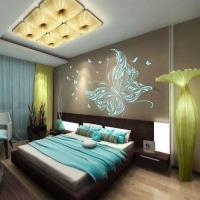 Оригинальное оформление спальни: фото