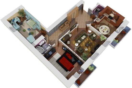 Современная планировка квартиры: фото