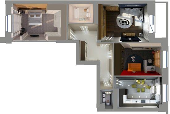 Перепланировка квартиры в многоэтажке на Рублевском