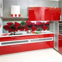 Стеклянные фартуки для кухни: фото