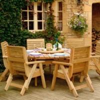 Деревянная садовая мебель: фото