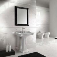 Плитка под мрамор в ванной комнате: фото