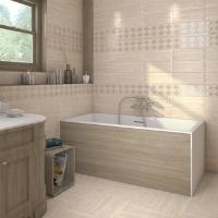 Матовая плитка в ванной: фото