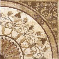 Напольная плитка с декором: фото