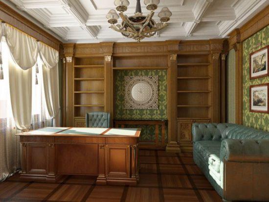 Кабинет в классическом стиле: фото