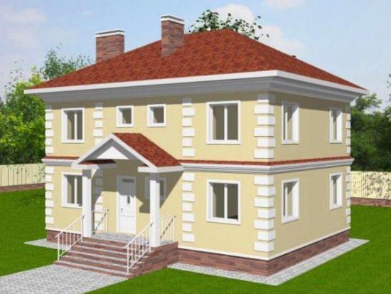 Проект двухэтажного дома: фото