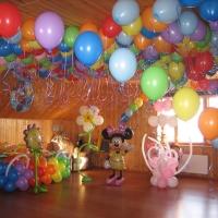 Оформление шариками: фото
