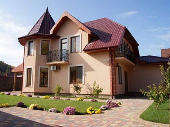 Строительство загородного дома: фото