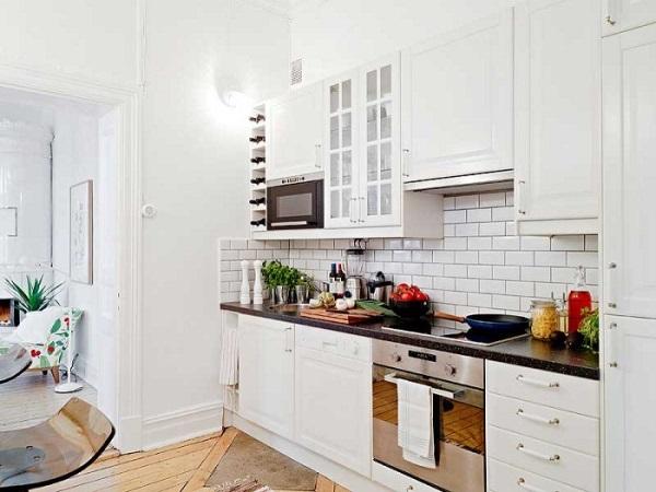 кирпичная стена на кухне - 4