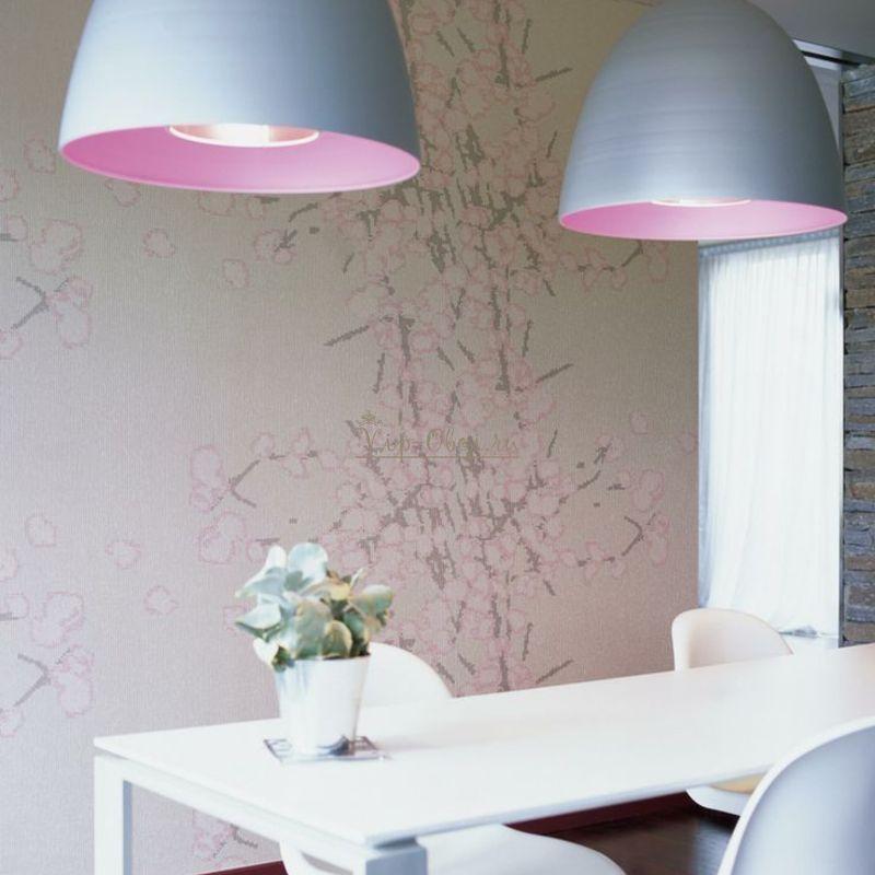 Обои Glass VP-645-02 с цветущей сакурой французской фабрики Elitis