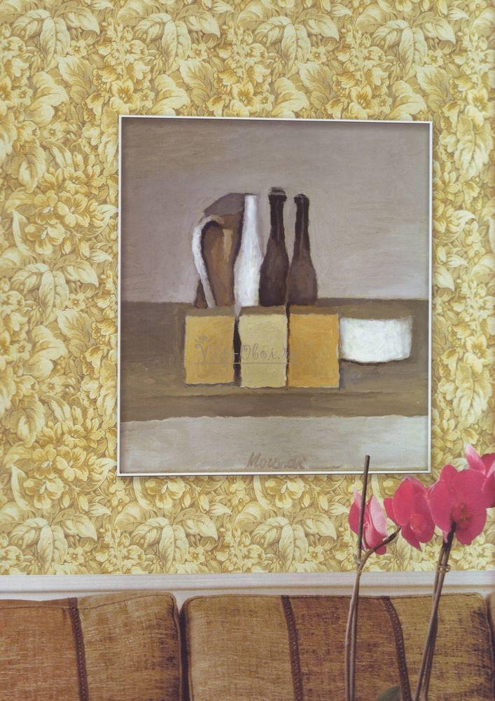 Виниловые обои Fiorile 56424 на бумажной основе серого цвета с цветочным рисунком итальянской фабрики Limonta